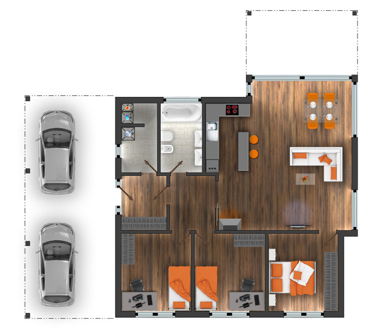 bungalov 4+1