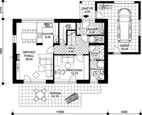 půdorys domu Iveta