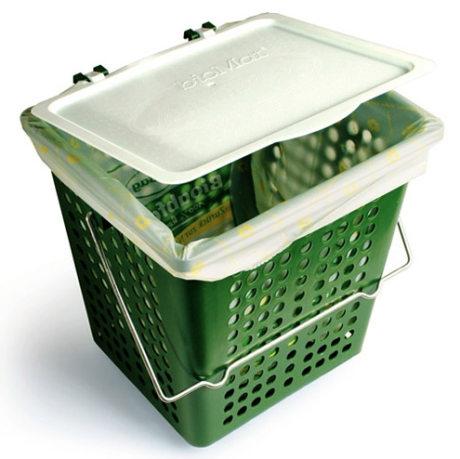 Odvětrávaný koš BioMat AirBox® Single 7 litrů