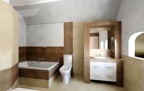 Doporučená výška obkladů v koupelně