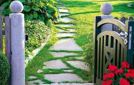 Nášlapné kameny do zahrady