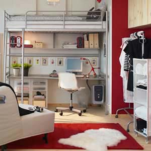 Obývací pokoj s ložnicí dohromady