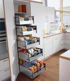 Kuchyňská skříň na potraviny
