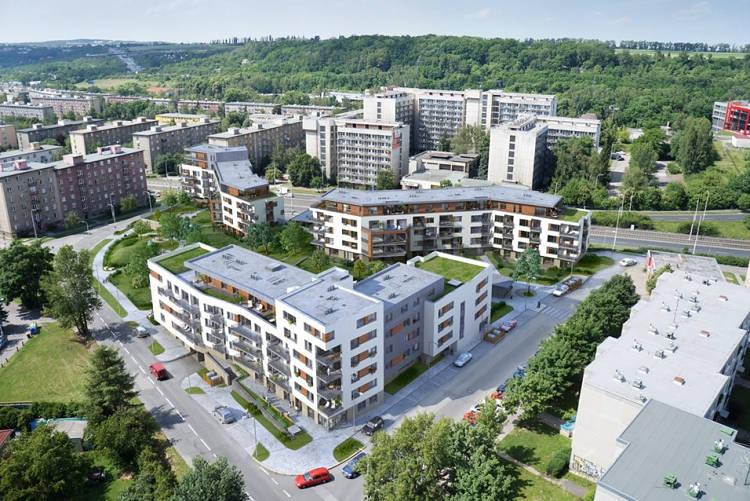 Park Hloubětín, nové byty Praha 9