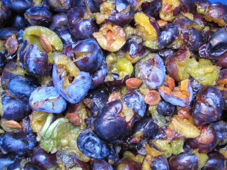pomačkané švestky do kvasu