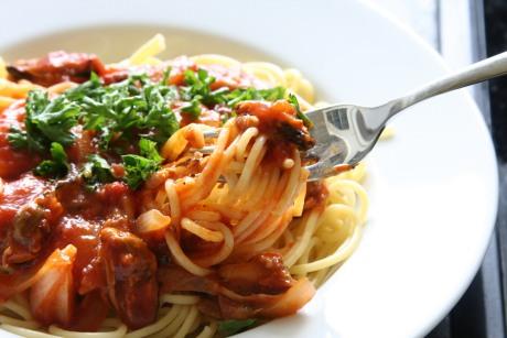 italské špagety