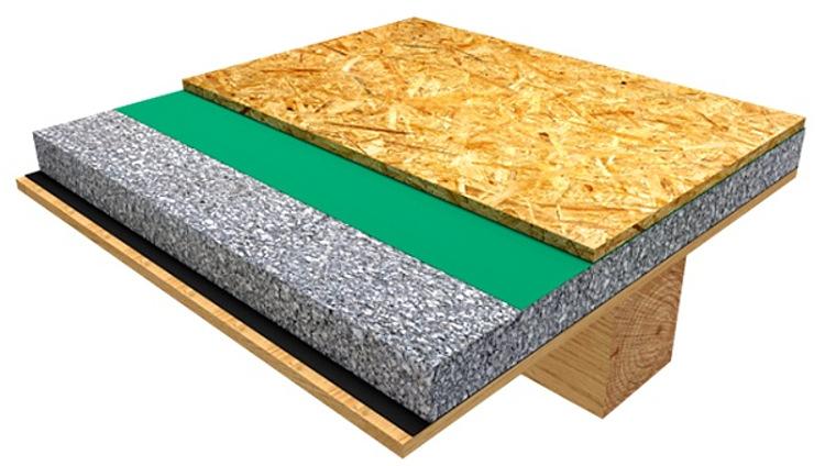 řez trámového stropu
