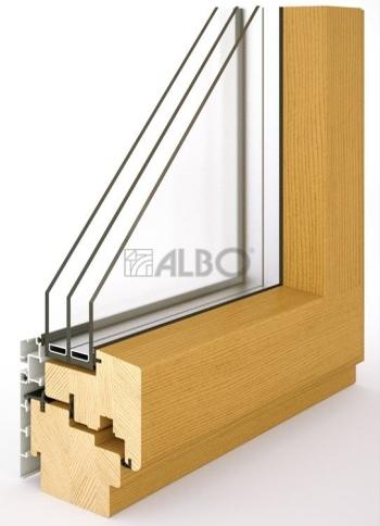 Dřevohliníková okna cena