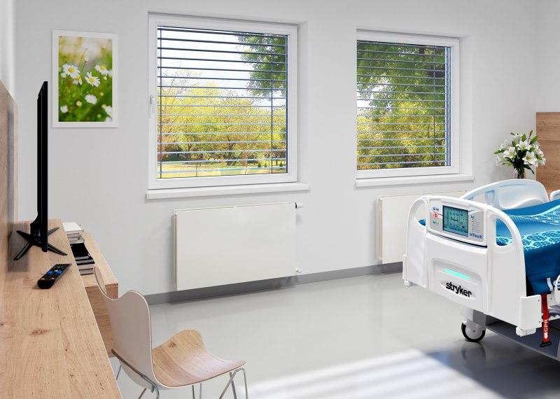 Korado - radiátory do nemocnic