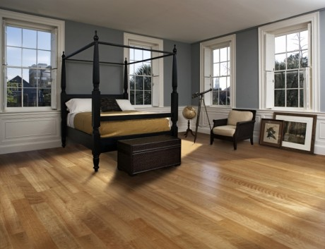 Dřevěná podlaha podlahové vytápění