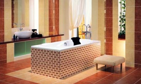 Mozaika v koupelně může mít různé podoby