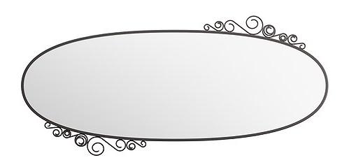 Zrcadlo v kovovém rámu. Foto: IKEA
