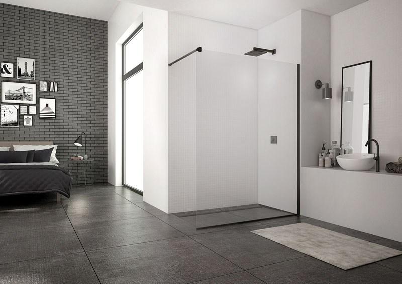 Sprchové zástěny walk-in kolekce BLACK LINE od SanSwiss