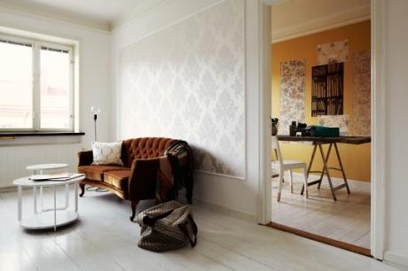 Tapety a tapetování - i bílá tapeta může působit nevšedně