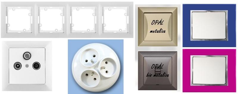 Přehledné informace o vypínačích a zásuvkách